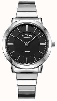 Rotary Womens London Stainless Steel Expanding Bracelet Watch LB00765/04