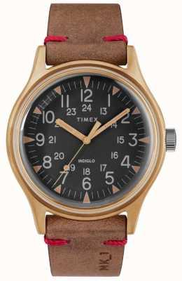 Timex Mens MK1 SST Chrono 40mm Bronze Case Black Dial Brown Strap TW2R96700