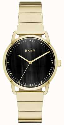 DKNY Women's Black Dial Gold Bracelet Watch NY2756