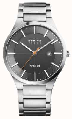 Bering Mens Solar Silver Titanium Strap 15239-779