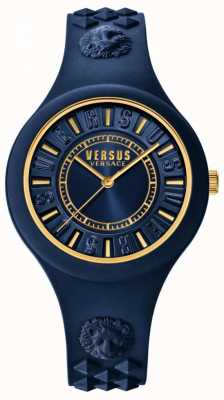 Versus Versace Fire Island Blue Silicone Strap Blue Dial SOQ090016