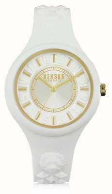 Versus Versace Fire Island White Silicone Stap White Dial SOQ040015