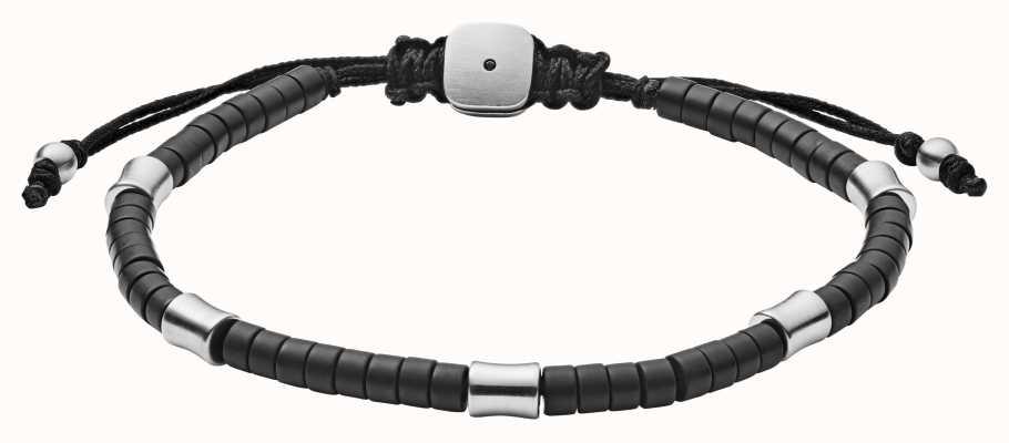 Fossil Mens Bracelet Black stainless Steel JF03006040