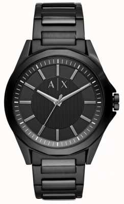 Armani Exchange Mens Black Stainless Steel AX2620