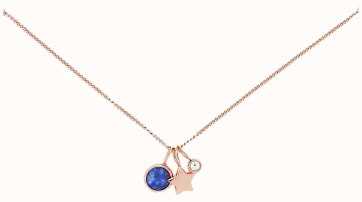 Fossil Womens Rose Gold Necklace JF03047791