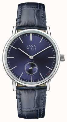Jack Wills Womens Buckley Blue Dial Blue Leather Strap JW007BLSS