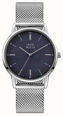 Jack Wills Mens Fortescue Blue Dial Stainless Steel Mesh Bracelet JW011SSBL