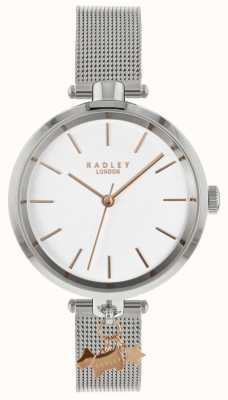 Radley Ladies Silver Watch | Stainless Steel Mesh Strap | RY4363