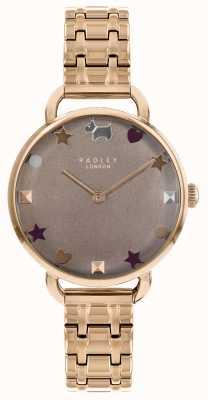 Radley Ladies Watch Rose Gold Open Shoulder Bracelet RY4350