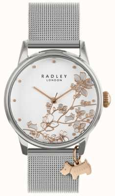 Radley Ladies Watch Silver Mesh Bracelet White Dial RY4347