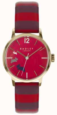 Radley Ladies Data Dog Claret Gloss Dial Leather RY2676