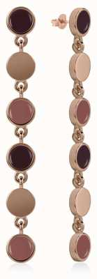 Radley Jewellery Enamel Drop Earrings Rose Gold Plated Silver RYJ1046