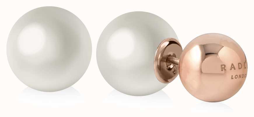 Radley Jewellery Pearl Stud Earrings Rose Gold RYJ1040