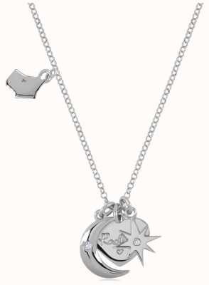 Radley Jewellery Silver Heart, Moon And Star Charm Necklace RYJ2043