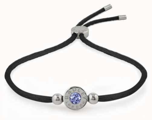 Radley Jewellery Silver/black Light Sapphire Stone Set Bracelet RYJ3017