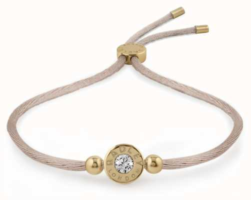 Radley Jewellery Gold/mink Plated Silver Stone Set Friendship Bracelet RYJ3018