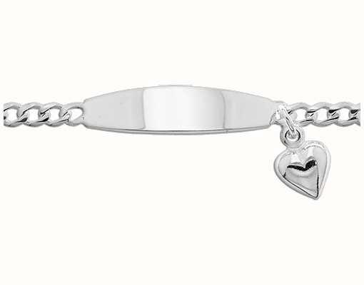 Treasure House Silver Baby Heart Charm ID Bracelet G2100