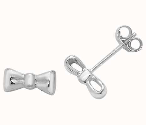 Treasure House Silver Bow Stud Earrings G51051