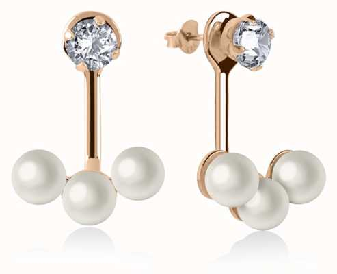 Radley Jewellery Rose Gold Plated Silver Triple Pearl Earrings RYJ1044