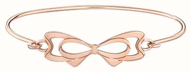 Chamilia Interlocking Bow ID Rose Gold Plated Sterling Silver Bangle 1010-0459