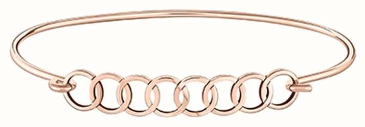 Chamilia Interlocking Circles Rose Gold Plated ID Bangle 1010-0456