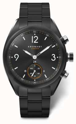Kronaby Mens Apex 41 Bluetooth Stainless Steel Black Dial A1000-3115 S3115/1