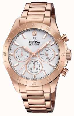 Festina Womens Boyfriend Chronograph Rose Gold PVD F20399/1