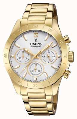 Festina Womens Boyfriend Chronograph Gold PVD F20400/1