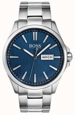 Hugo Boss Mens The James Stainless Steel Bracelet Blue Dial 1513533