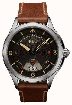 REC Spitfire Automatic Brown Leather Strap (free strap/notebook) RJM-02
