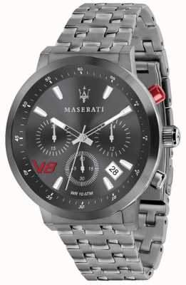 Maserati Mens GT 44mm | Grey Dial | Grey Stainless Steel Bracelet R8873134001