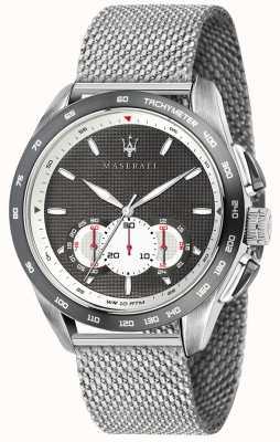 Maserati Mens Traguardo 45mm | Grey/Black Dial | Stainless Steel Mesh R8873612008