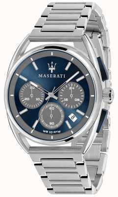 Maserati Mens Trimarano 41mm | Blue Dial | Stainless Steel Bracelet R8873632004