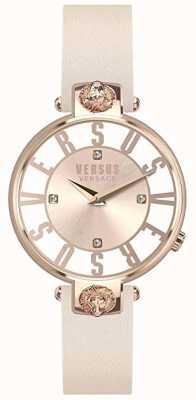 Versus Versace Womens Kristenhof   Pink/White Dial   Pink Leather Strap VSP490318