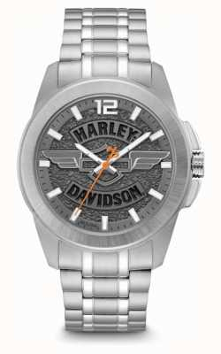 Harley Davidson Men Only Time Stainless Steel Bracelet 76B180