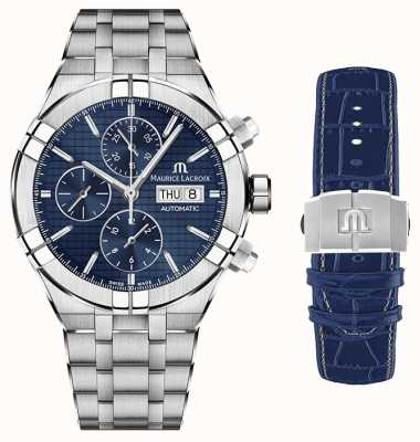 Maurice Lacroix Aikon Automatic Chrono Stainless Steel with Second Strap AI6038-SS002-430-1-WITH-STRAP