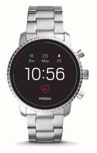 Fossil Connected Q Explorist HR Smart Watch Stainless Steel FTW4011