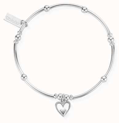 ChloBo Womens | Mini Noodle Ball Heart In Heart | Bracelet SBMNB732