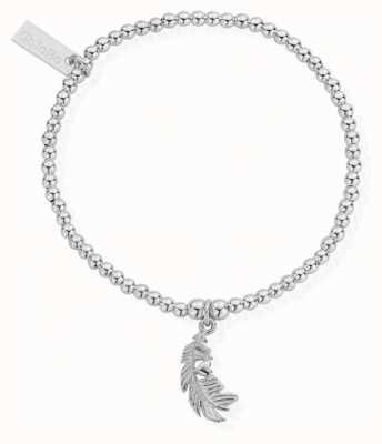 ChloBo Womens | Cute Charm Heart In Feather | Bracelet SBCC596