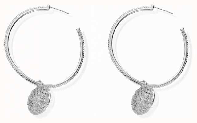 ChloBo Women's   Flower Hoop   Earrings SEH659