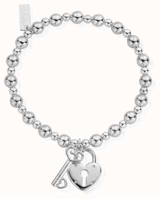 ChloBo Women's | Small Ball Lock And Key | Bracelet SBMSB923