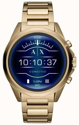 Armani Exchange Connected Smartwatch Touchscreen Gold PVD Plated AXT2001