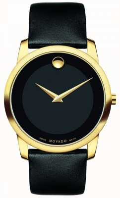 Movado | Mens Museum Classic Watch | Black Leather | 0606876