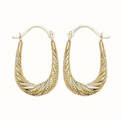 Treasure House 9k Yellow Gold Creole Hoop Earrings ER495