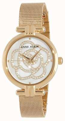 Anne Klein | Womens Flower Watch | Gold Tone | AK-N3102MPGB