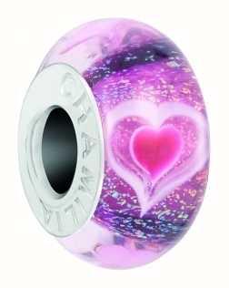 Chamilia Heartbeats Charm   Murano And Dichroic Glass 2110-1306