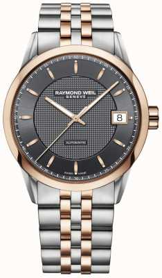 Raymond Weil | Mens Freelancer Watch | Stainless Steel And Rose Gold | 2740-SP5-60021