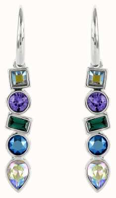 Adore By Swarovski Mixed Crystal French Wire Earrings Rhodium Plated 5375525