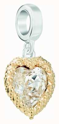 Chamilia   Swarovski Gold Crystal Heart Charm   4010-0462