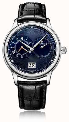 Dreyfuss Men's Quartz Chronograph Black Leather Strap Watch DGS00120/05